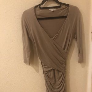 James Perse Taupe dress wrap style size 1